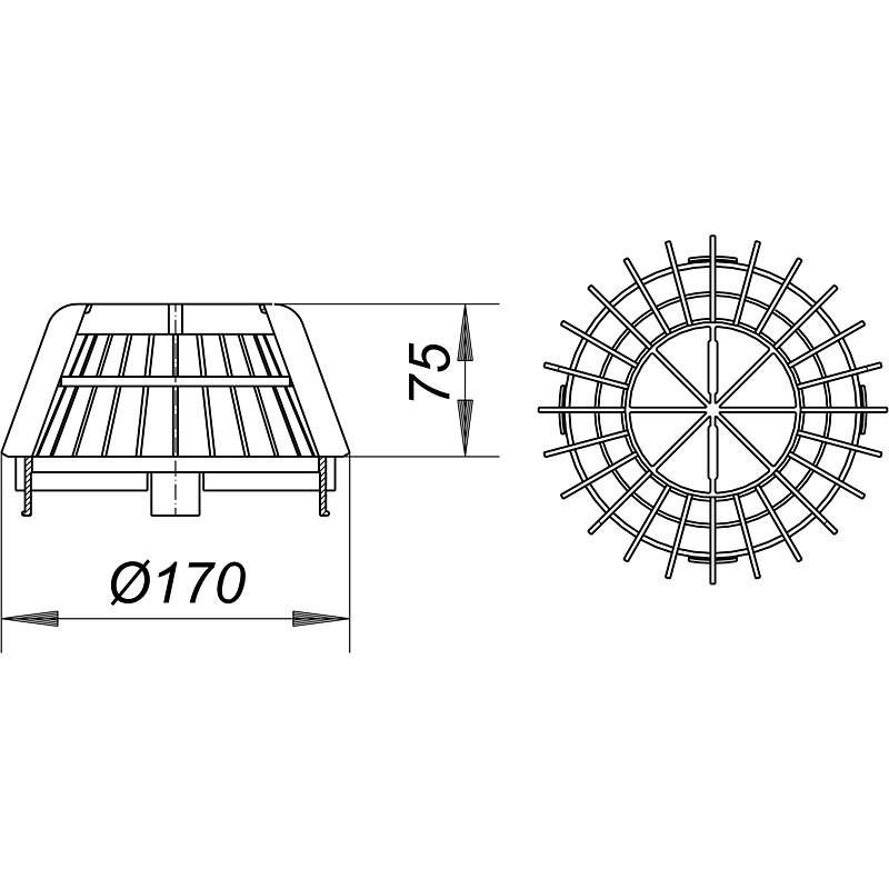 dallmer kies-  laubfangkorb s 15  d  170 mm